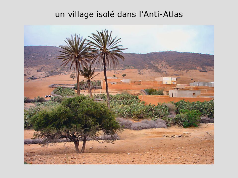 un village isolé dans l'Anti-Atlas