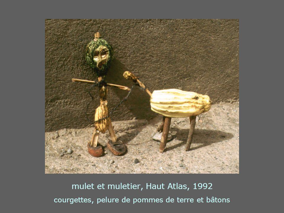 mulet et muletier, Haut Atlas, 1992