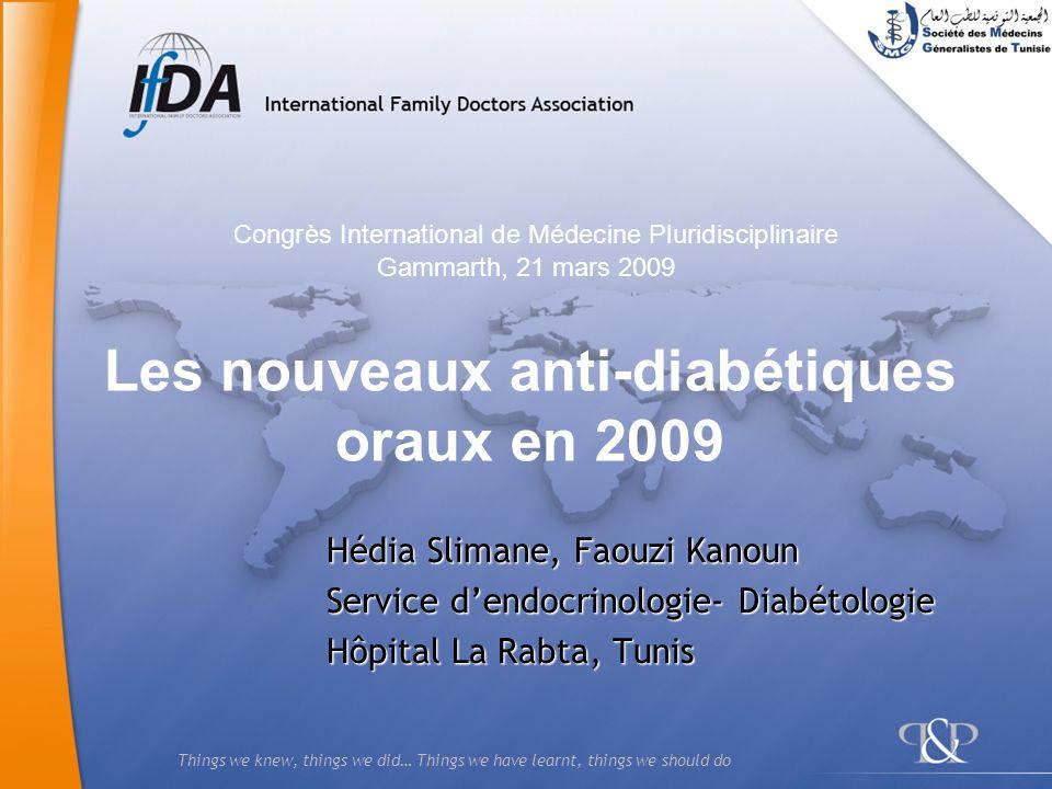 Les nouveaux anti-diabétiques oraux en 2009