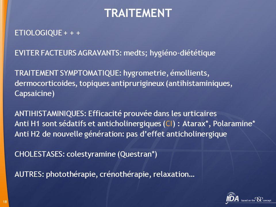 TRAITEMENT ETIOLOGIQUE + + +