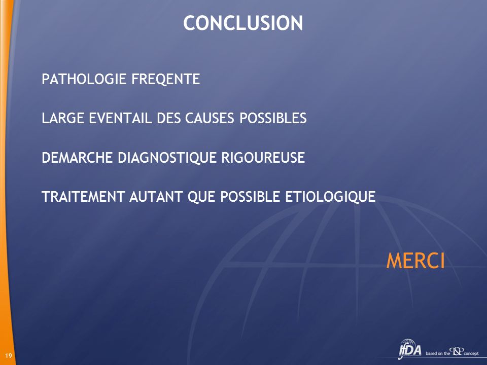 MERCI CONCLUSION PATHOLOGIE FREQENTE