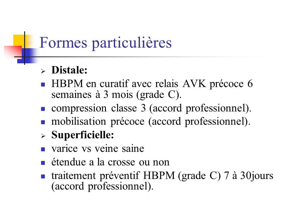 Formes particulières Distale: