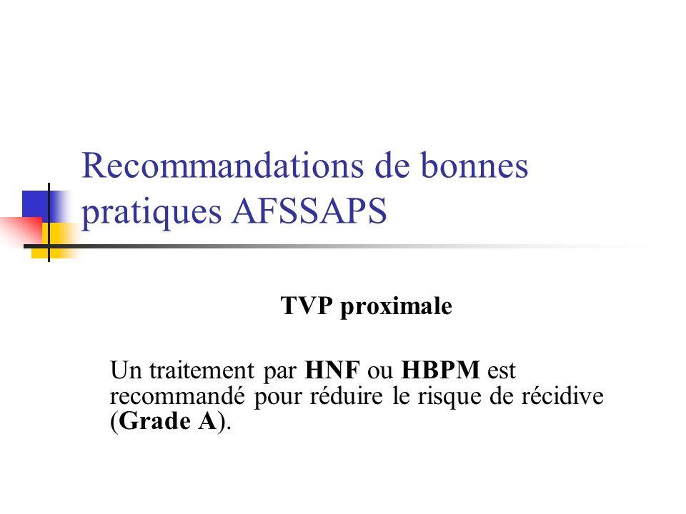 Recommandations de bonnes pratiques AFSSAPS