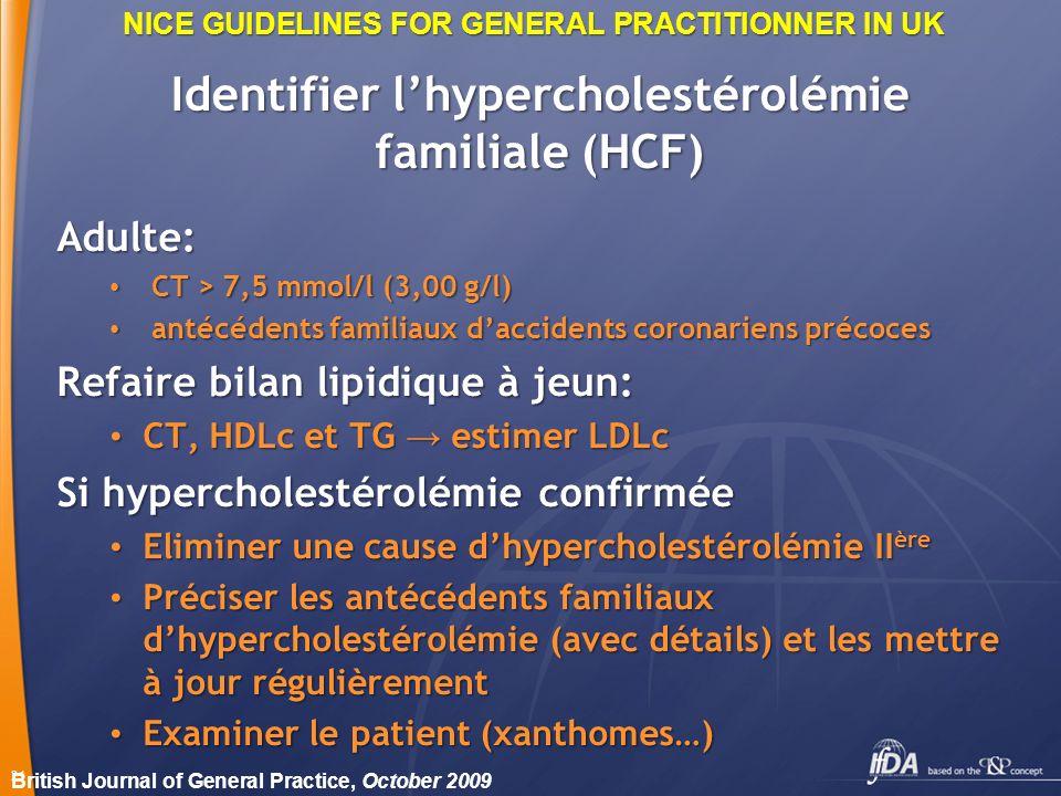 Identifier l'hypercholestérolémie familiale (HCF)