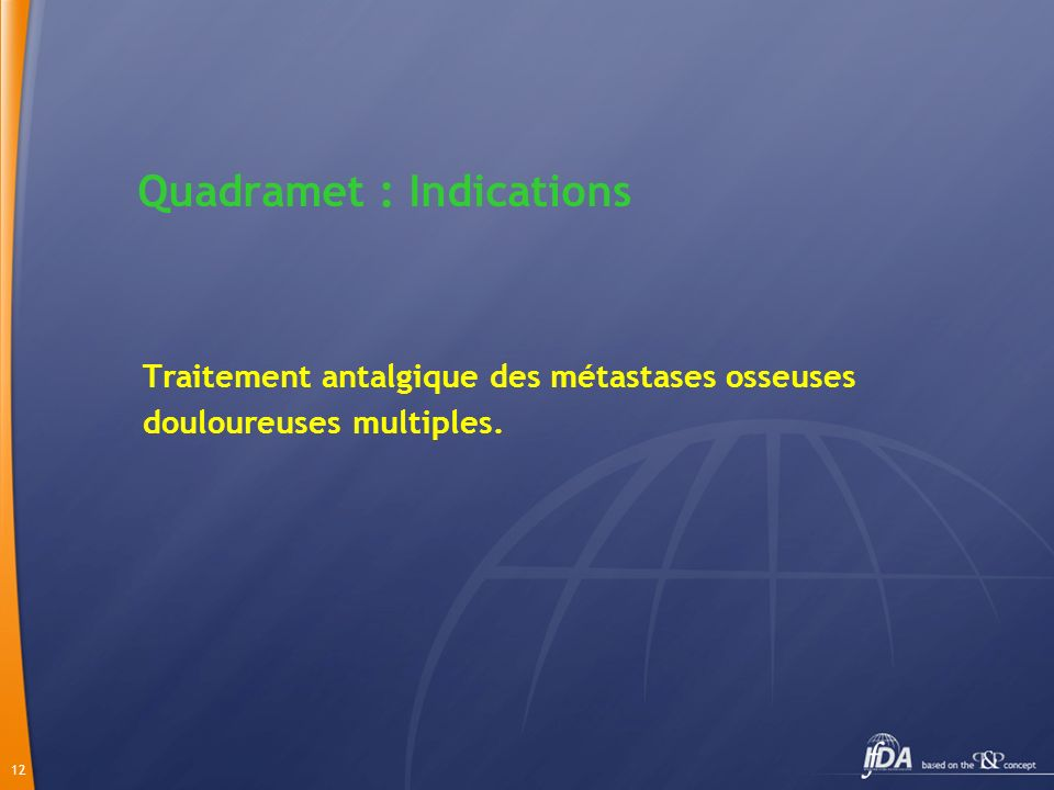 Quadramet : Indications