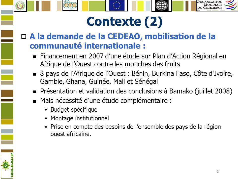 Contexte (2)A la demande de la CEDEAO, mobilisation de la communauté internationale :