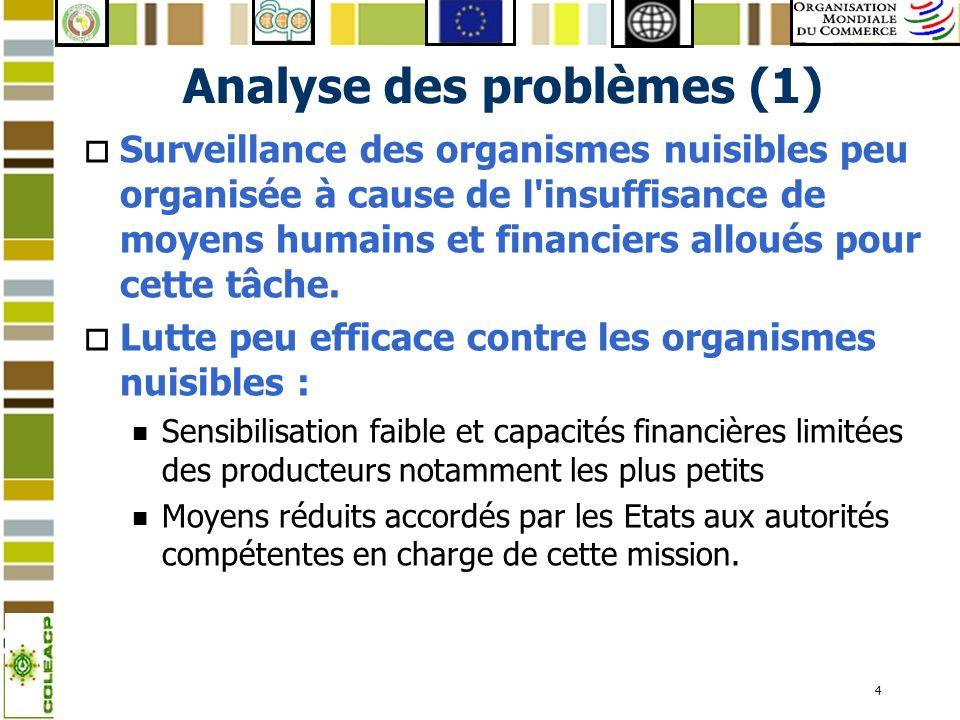 Analyse des problèmes (1)