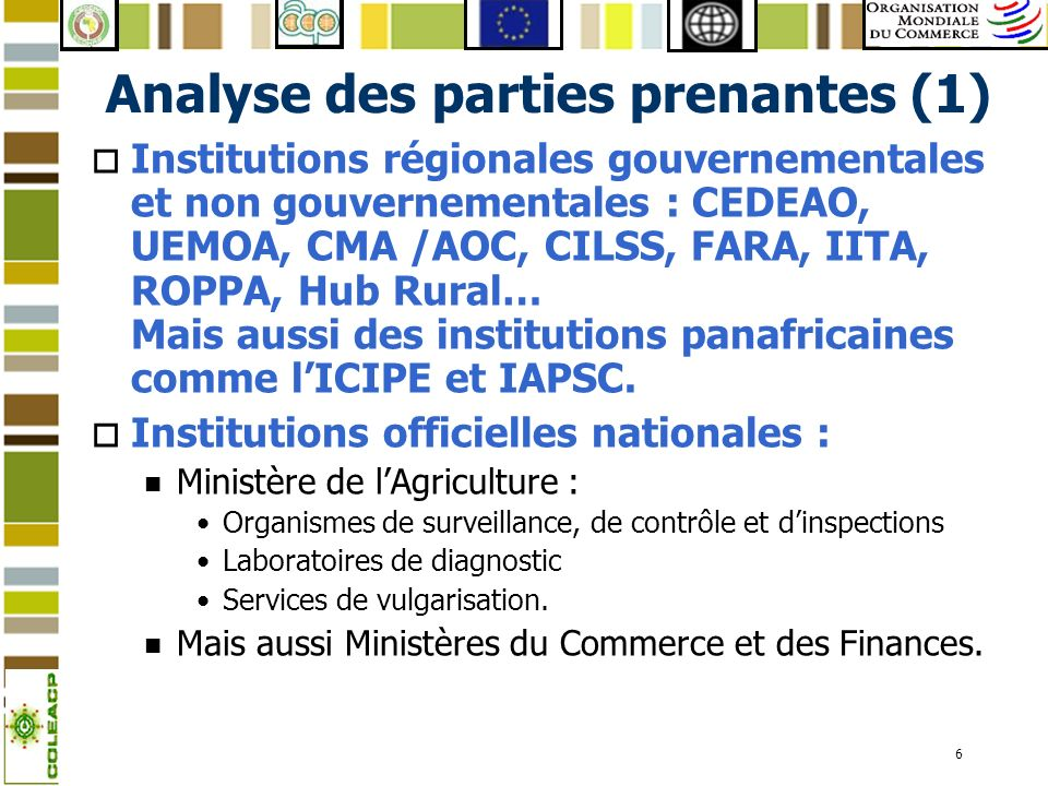Analyse des parties prenantes (1)