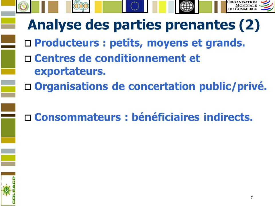 Analyse des parties prenantes (2)