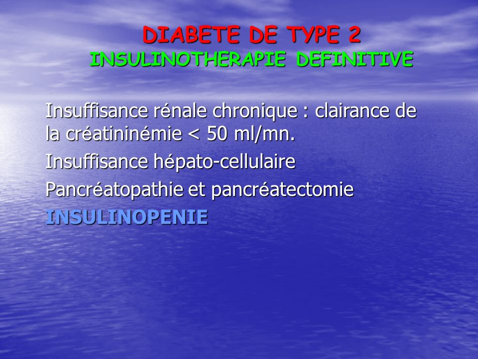 INSULINOTHERAPIE DEFINITIVE