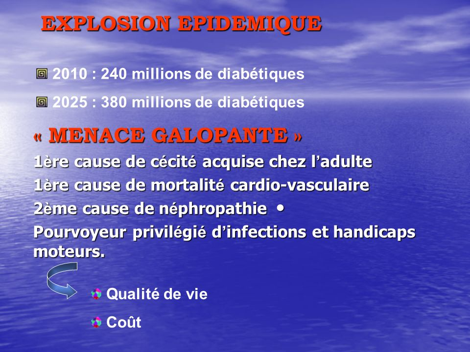 EXPLOSION EPIDEMIQUE « MENACE GALOPANTE »