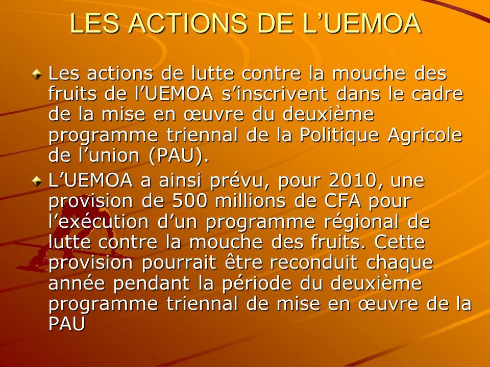 LES ACTIONS DE L'UEMOA