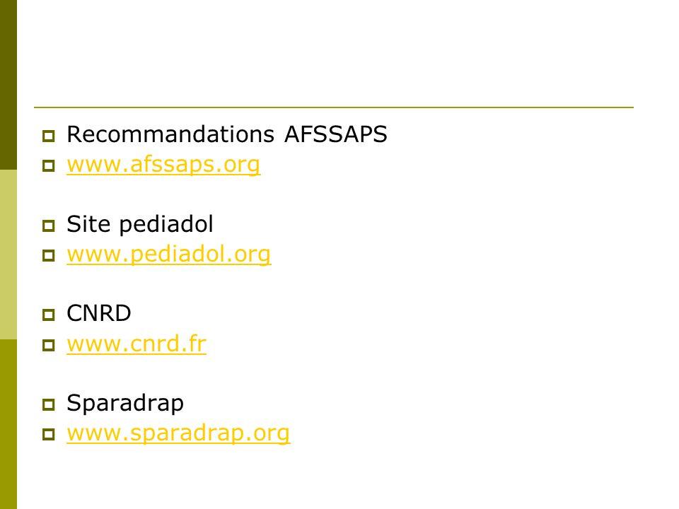 Recommandations AFSSAPS