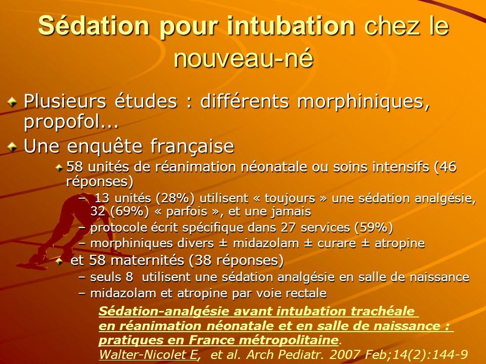 Sédation pour intubation chez le nouveau-né