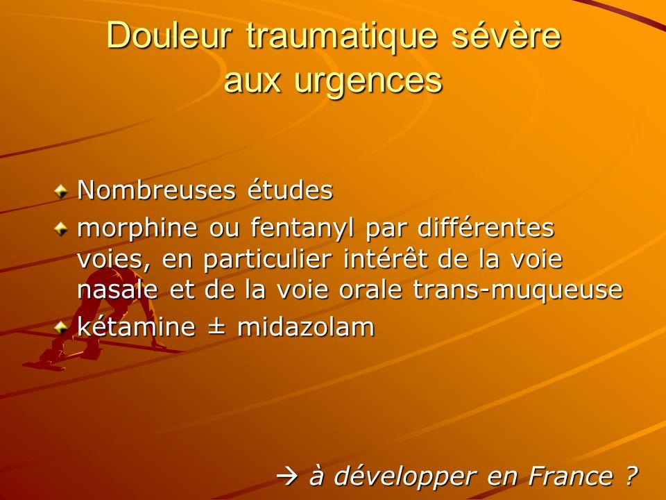 Douleur traumatique sévère aux urgences