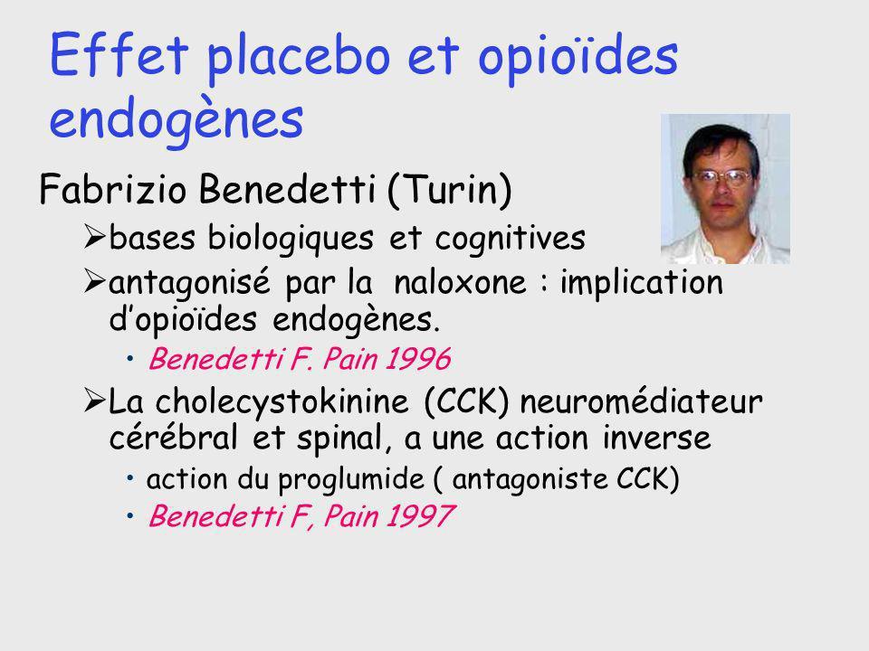 Effet placebo et opioïdes endogènes
