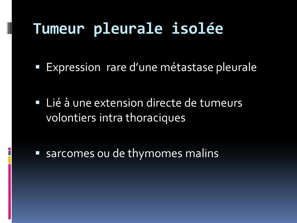 Tumeur pleurale isolée