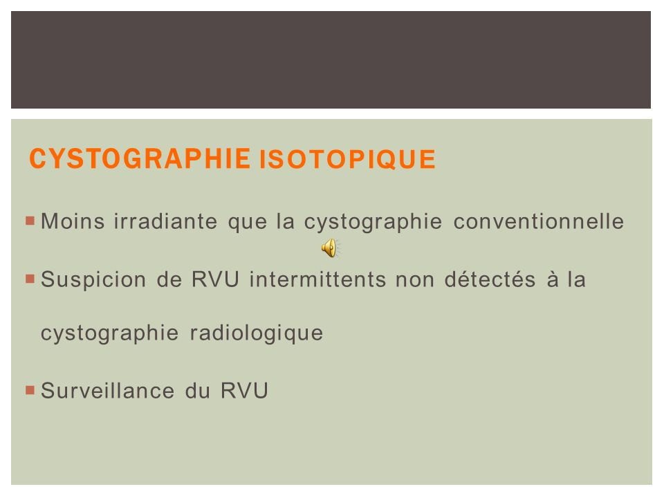 Cystographie isotopique