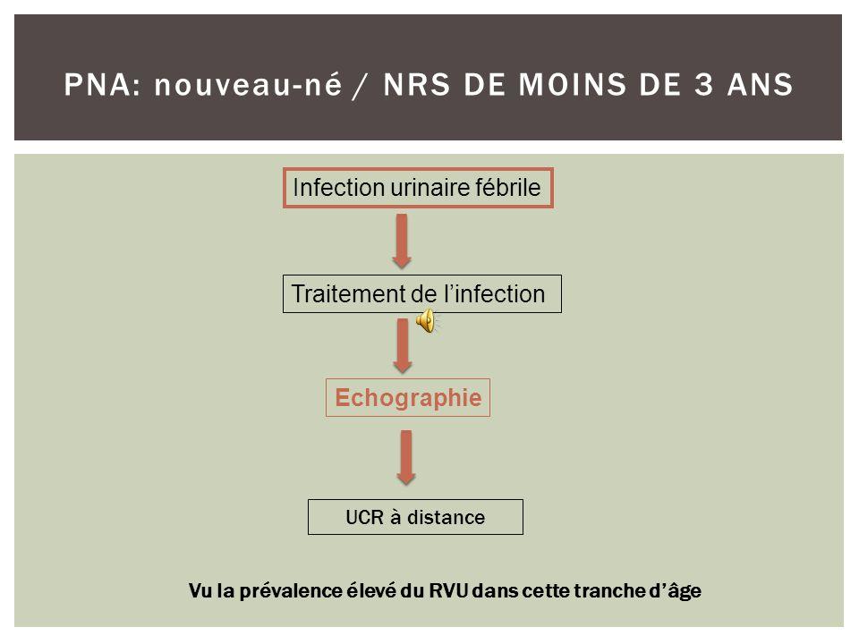 PNA: nouveau-né / NRS DE MOINS DE 3 ANS