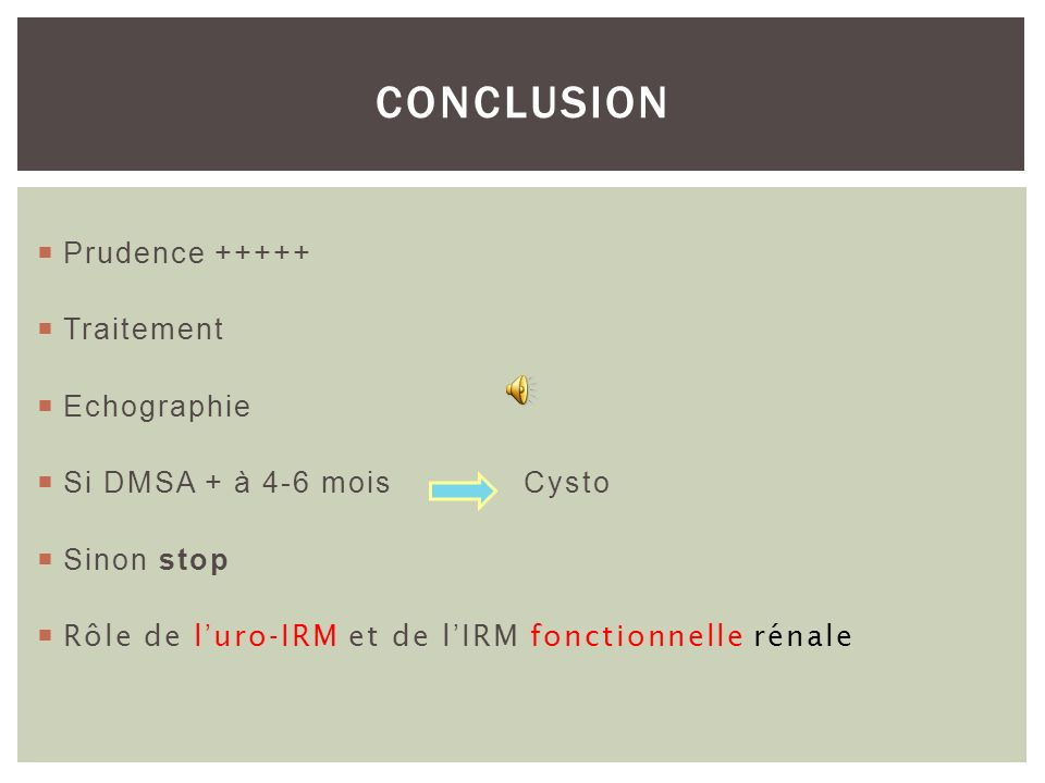 CONCLUSION Prudence Traitement Echographie