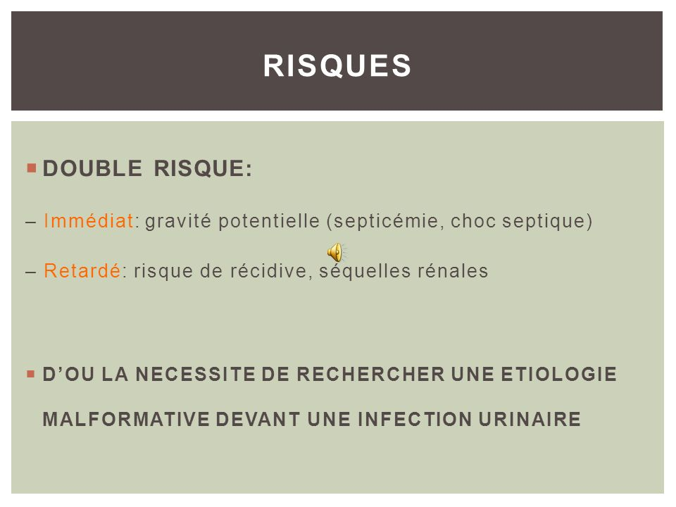 RISQUES DOUBLE RISQUE: