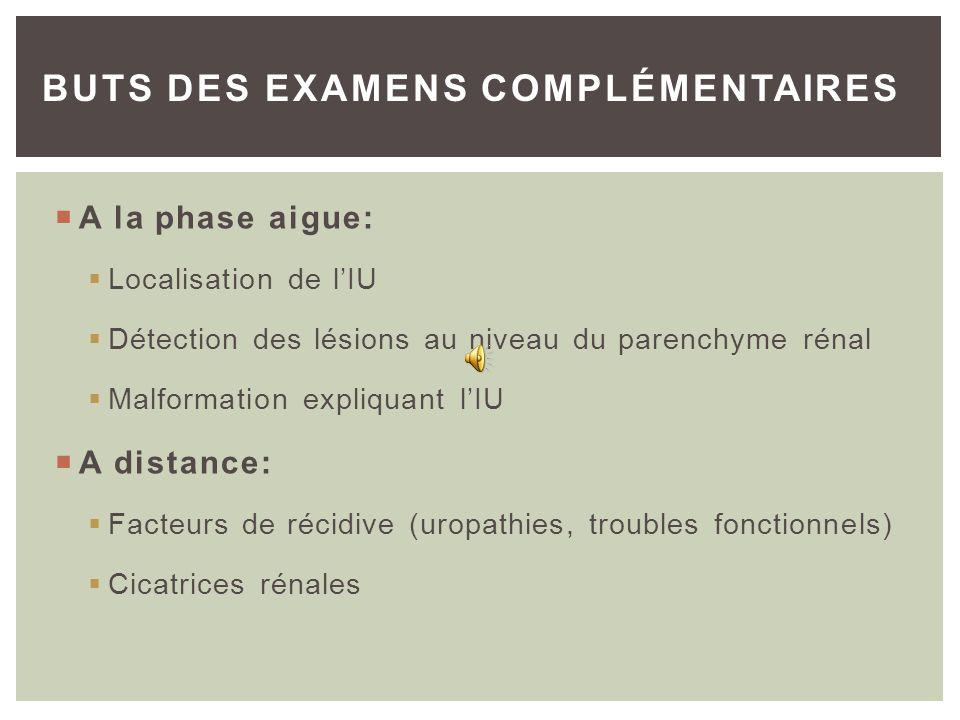 BUTS DES EXAMENS COMPLÉMENTAIRES