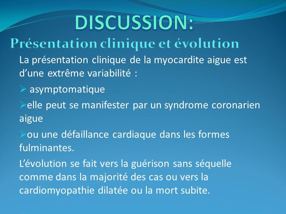 Présentation clinique et évolution