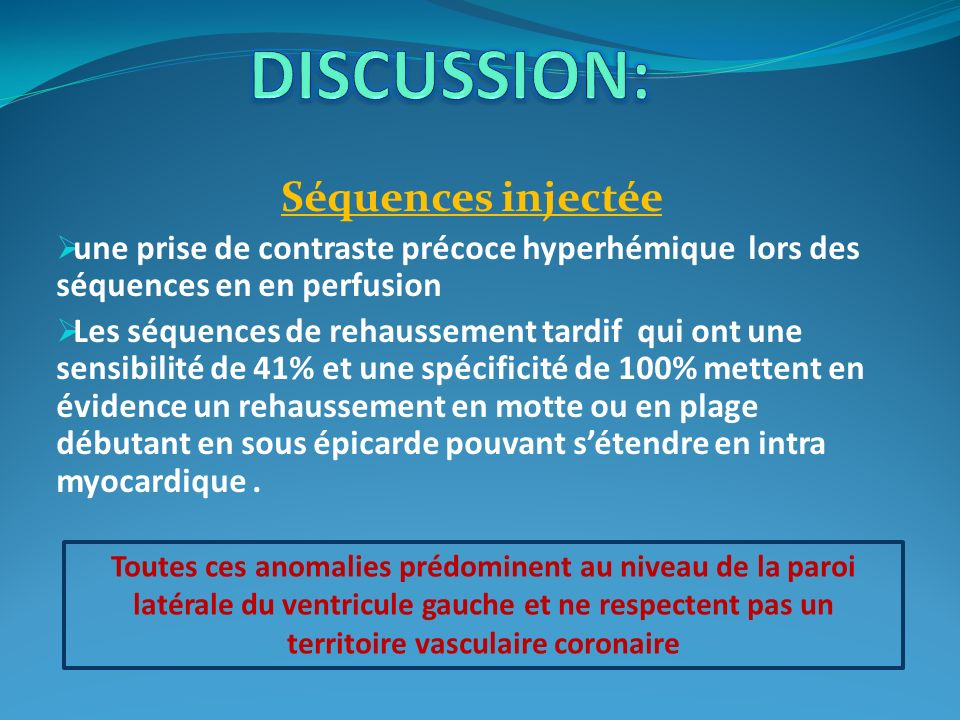 DISCUSSION: Séquences injectée