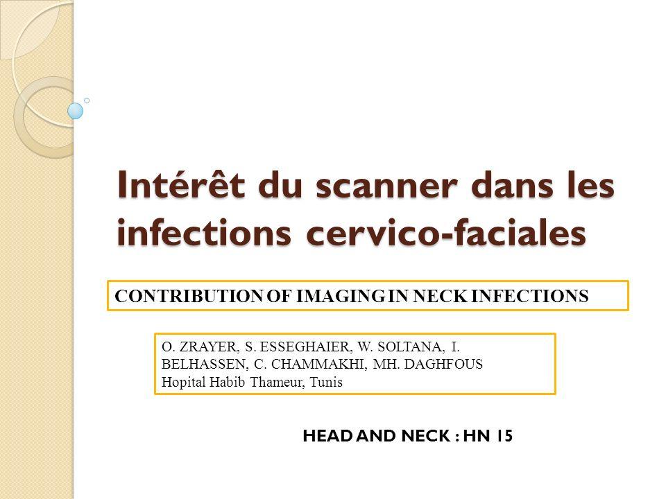 Intérêt du scanner dans les infections cervico-faciales