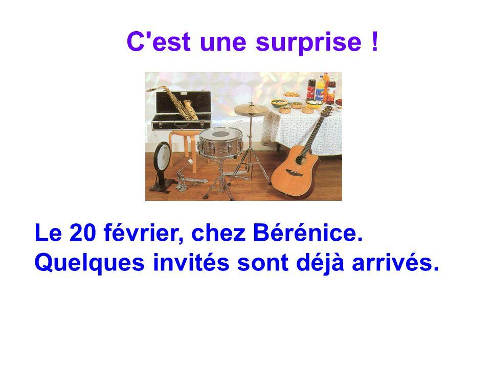 Le 20 février, chez Bérénice. Quelques invités sont déjà arrivés.