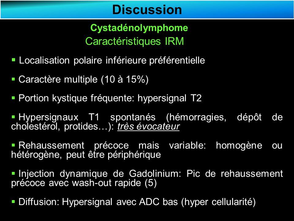 Discussion Caractéristiques IRM