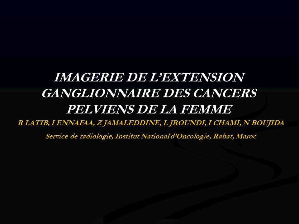 IMAGERIE DE L'EXTENSION GANGLIONNAIRE DES CANCERS PELVIENS DE LA FEMME