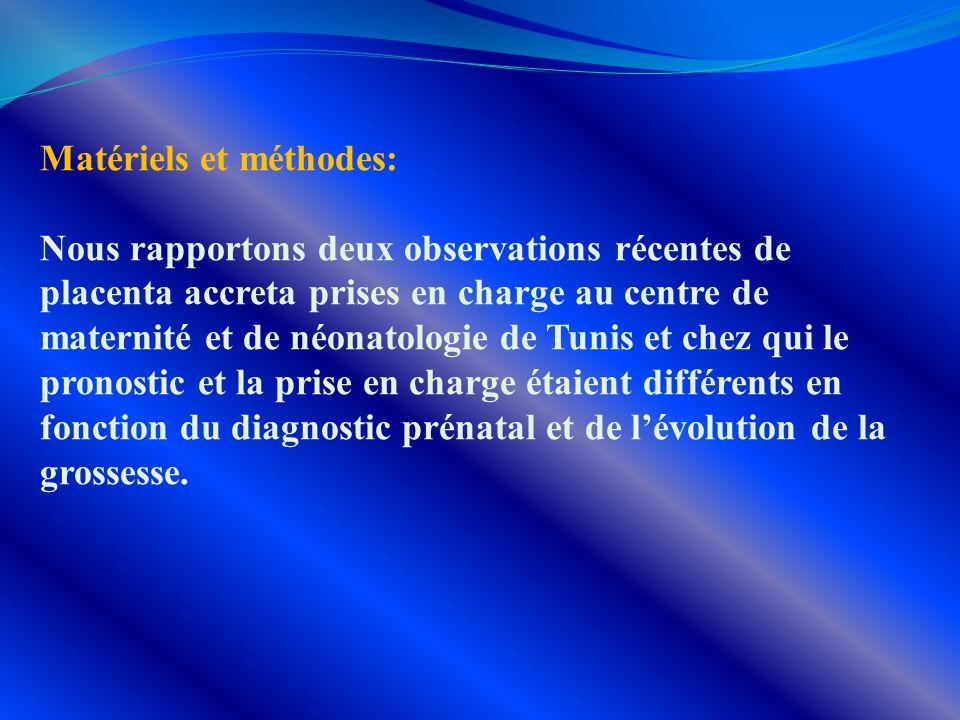 Matériels et méthodes: