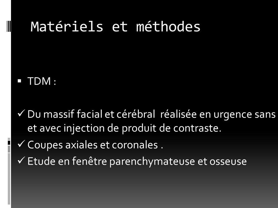 Matériels et méthodes TDM :