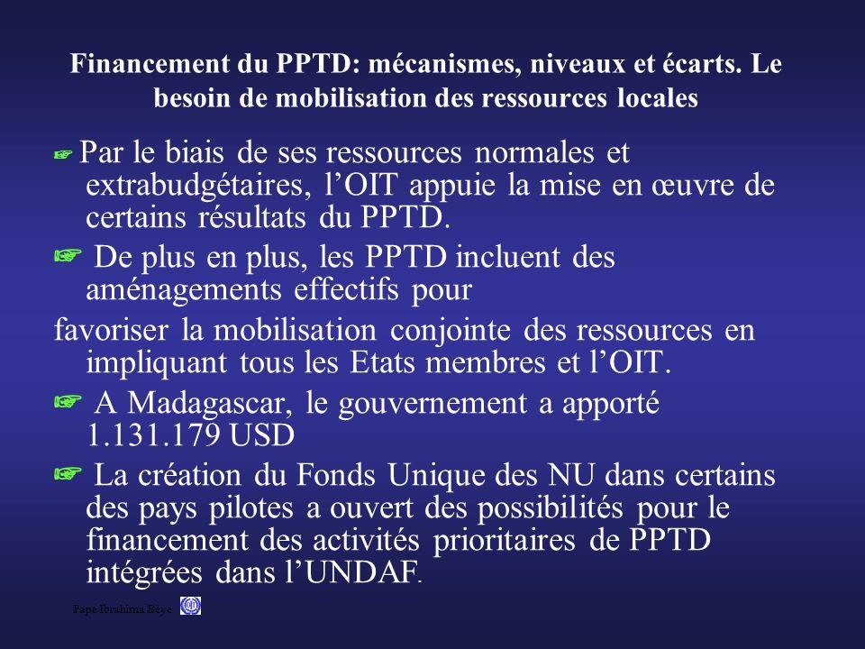 Financement du PPTD: mécanismes, niveaux et écarts