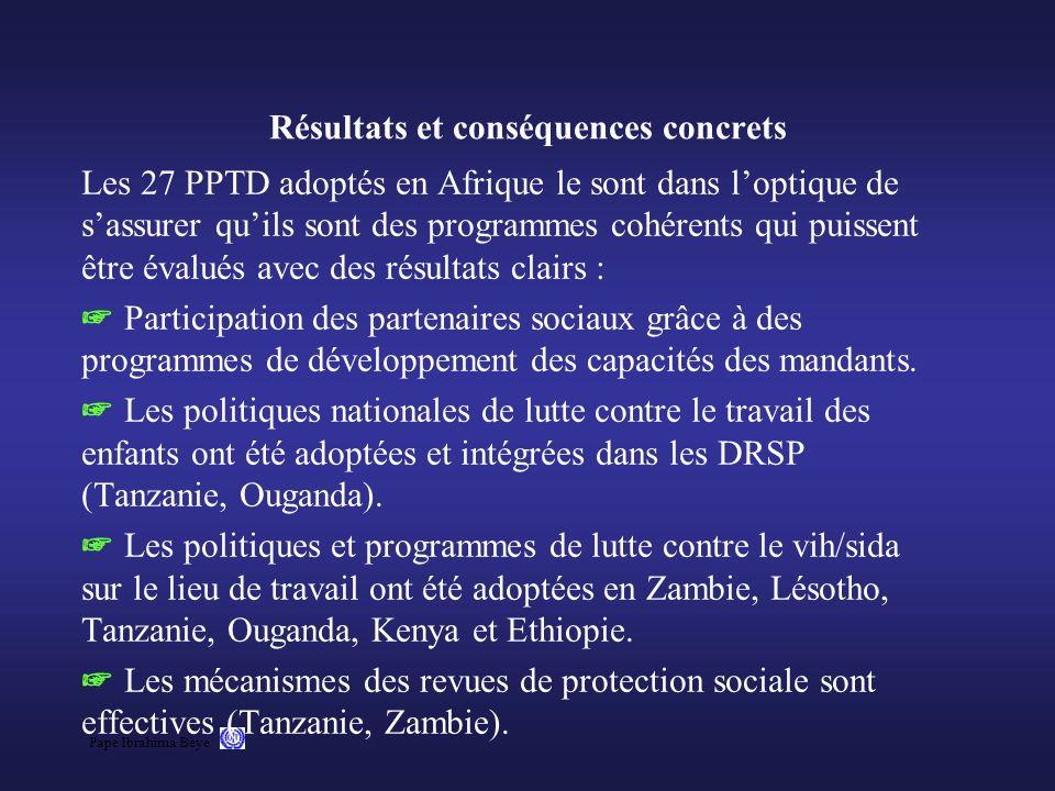 Résultats et conséquences concrets