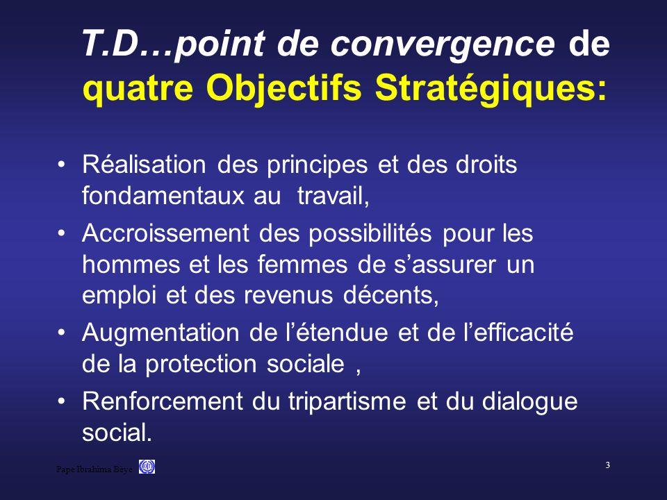 T.D…point de convergence de quatre Objectifs Stratégiques: