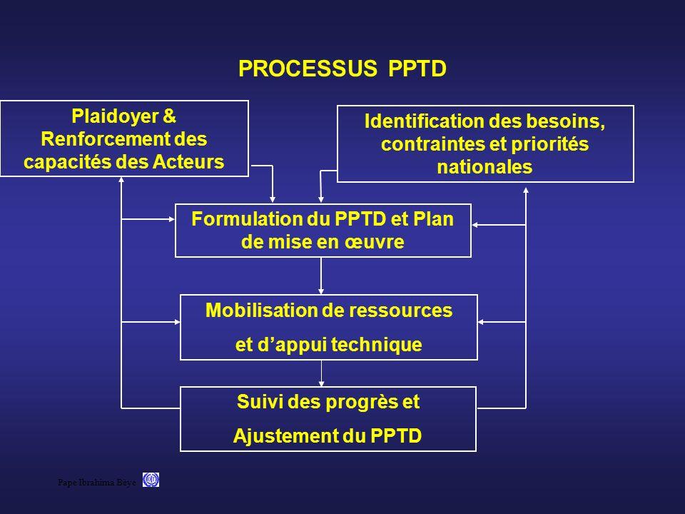 PROCESSUS PPTD Plaidoyer & Renforcement des capacités des Acteurs