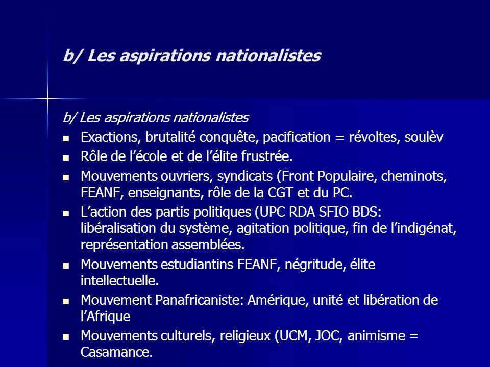 b/ Les aspirations nationalistes