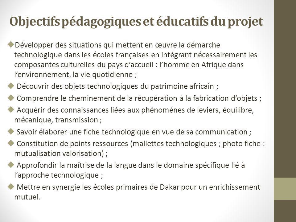 Objectifs pédagogiques et éducatifs du projet
