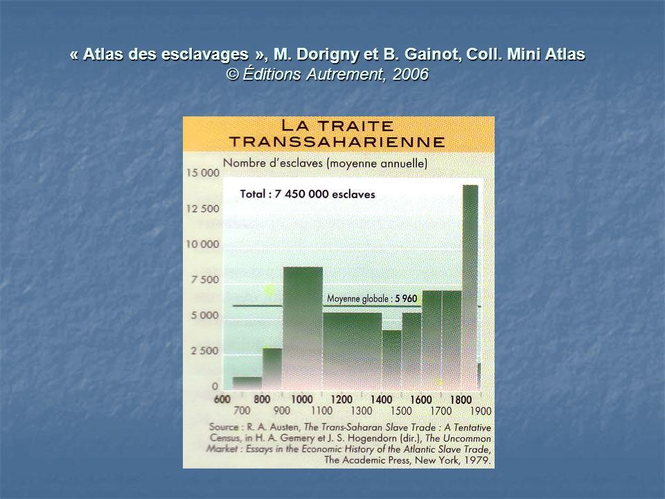 « Atlas des esclavages », M. Dorigny et B. Gainot, Coll