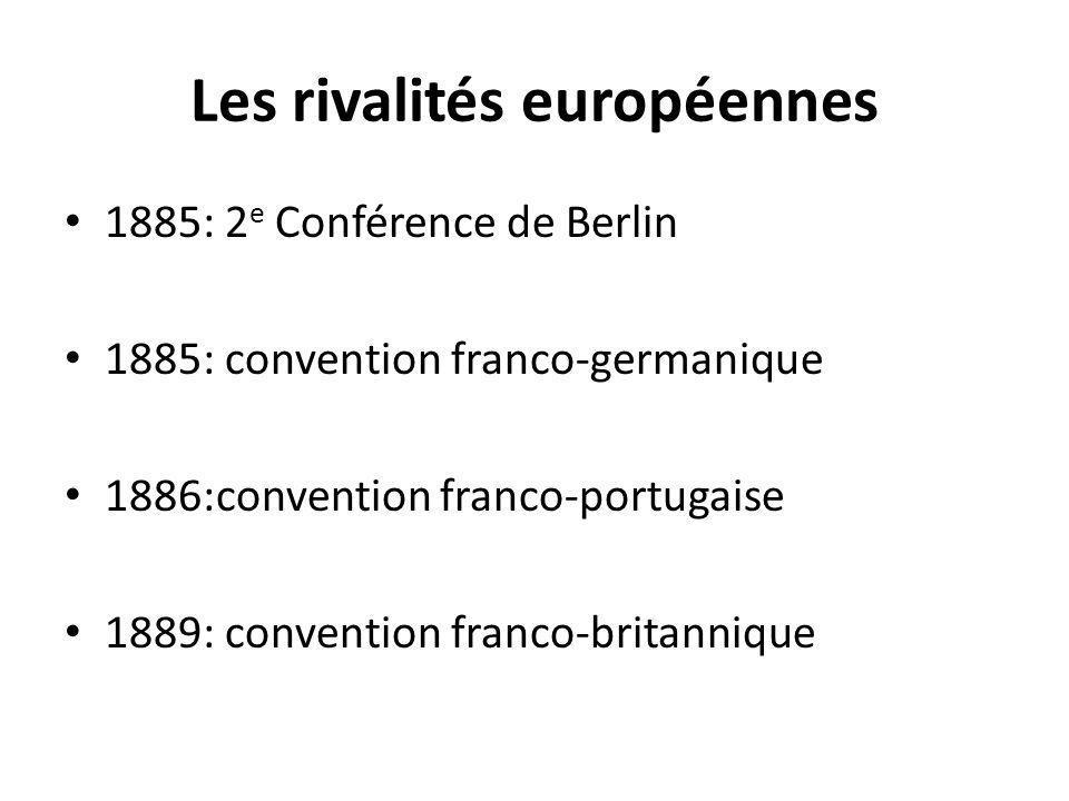 Les rivalités européennes