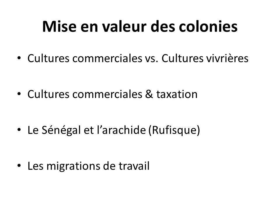 Mise en valeur des colonies