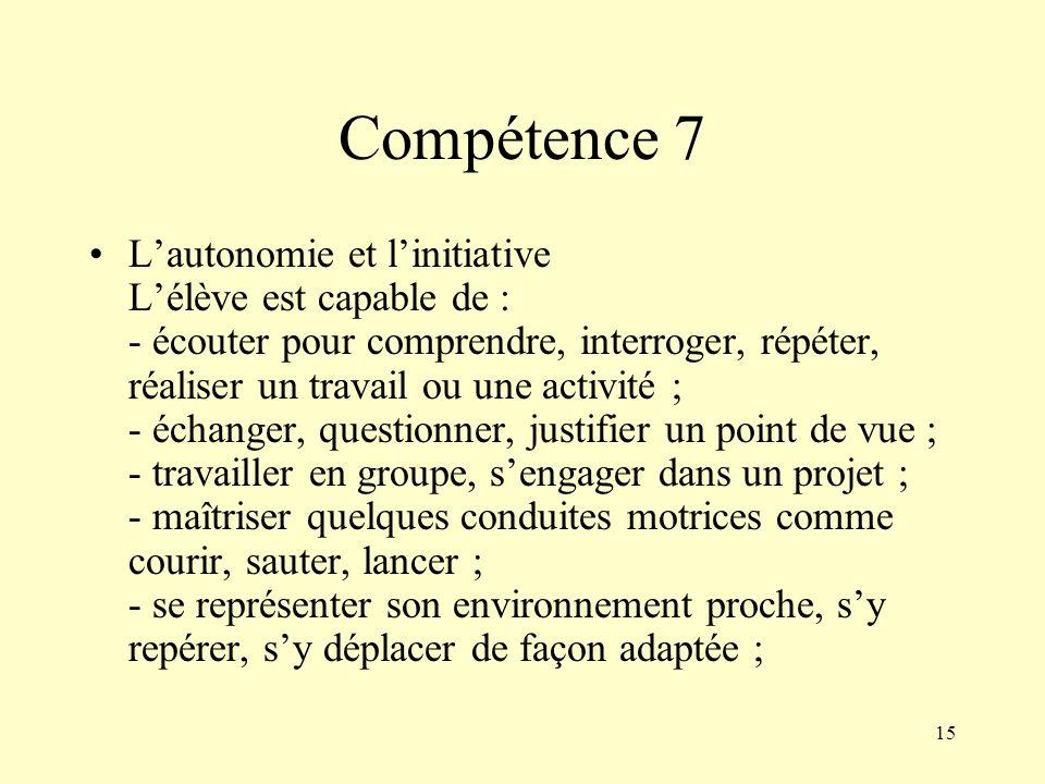 Compétence 7