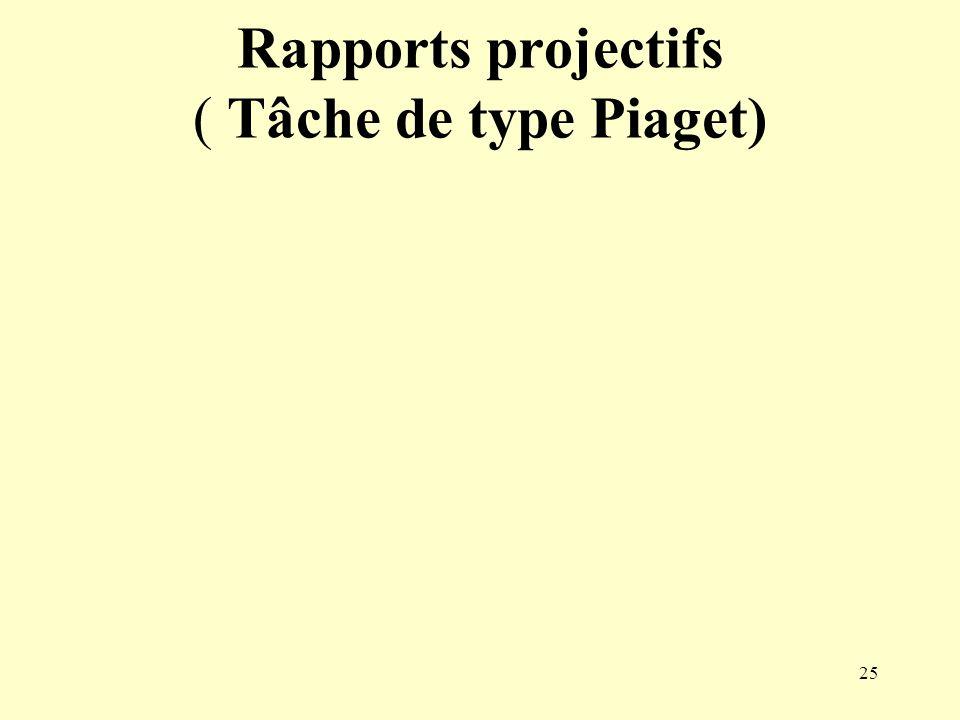 Rapports projectifs ( Tâche de type Piaget)