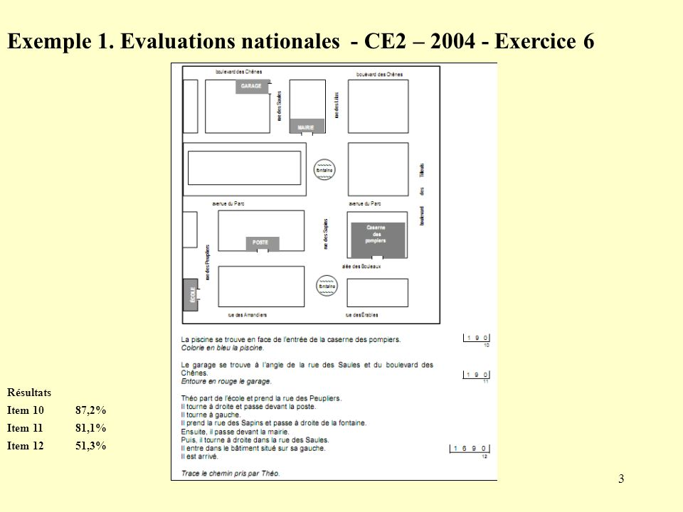 Exemple 1. Evaluations nationales - CE2 – Exercice 6