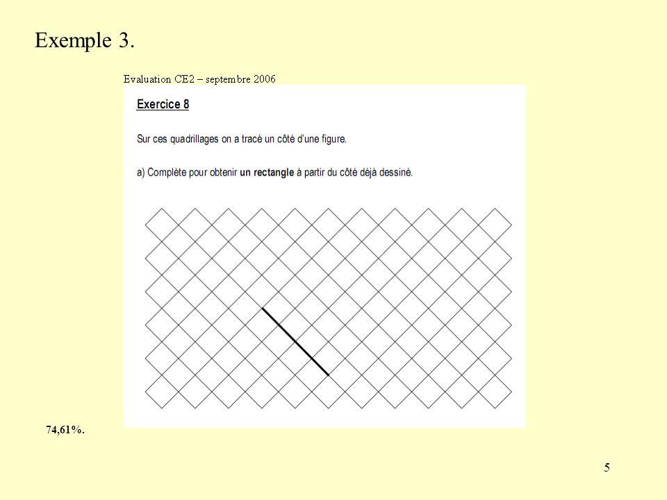 Exemple 3. Pour réussir, les élèves doivent avoir une représentation de ce qu'est un rectangle, et de le « voir » sur les lignes du quadrillage.