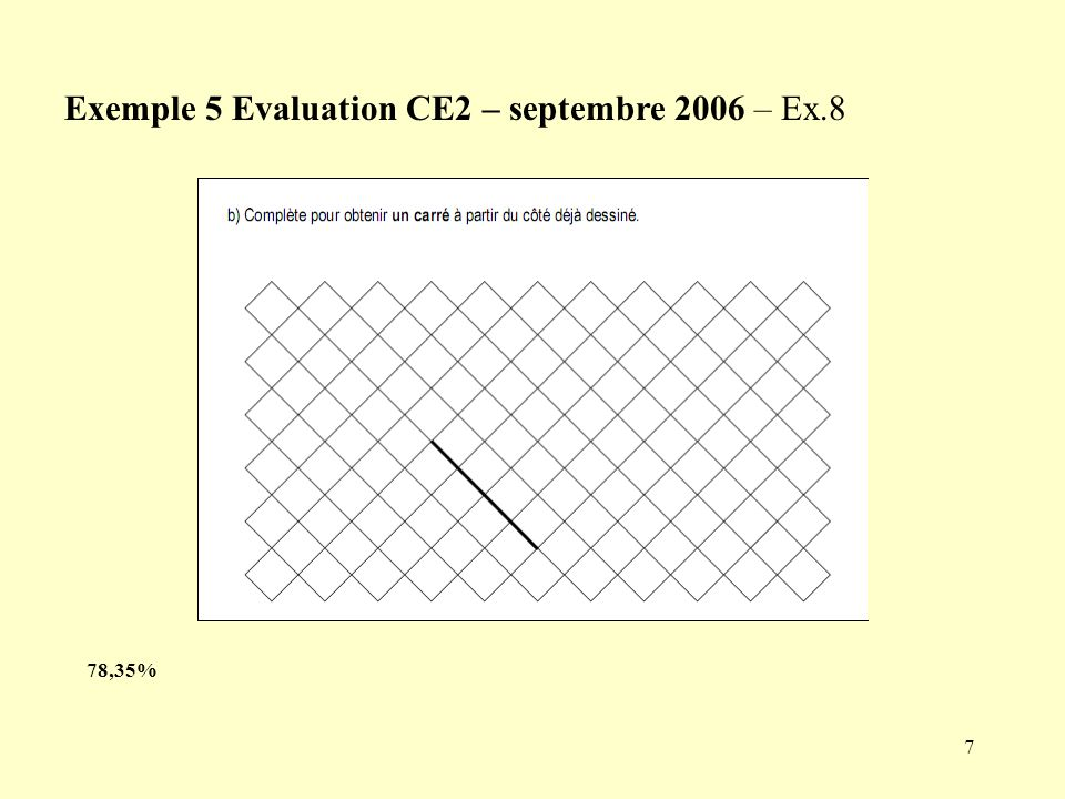 Exemple 5 Evaluation CE2 – septembre 2006 – Ex.8