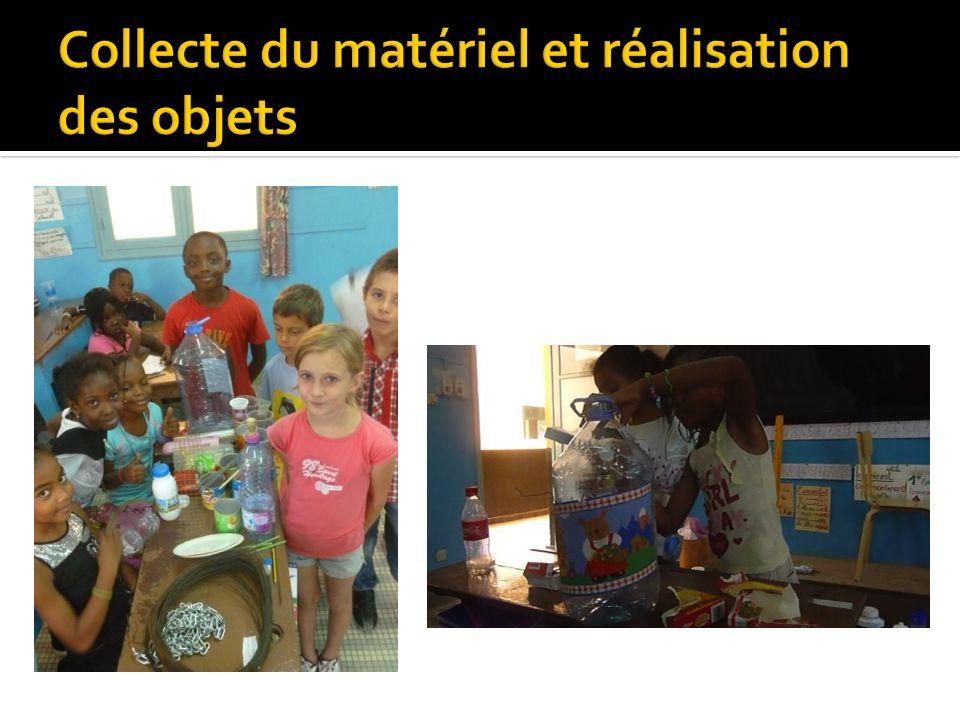 Collecte du matériel et réalisation des objets