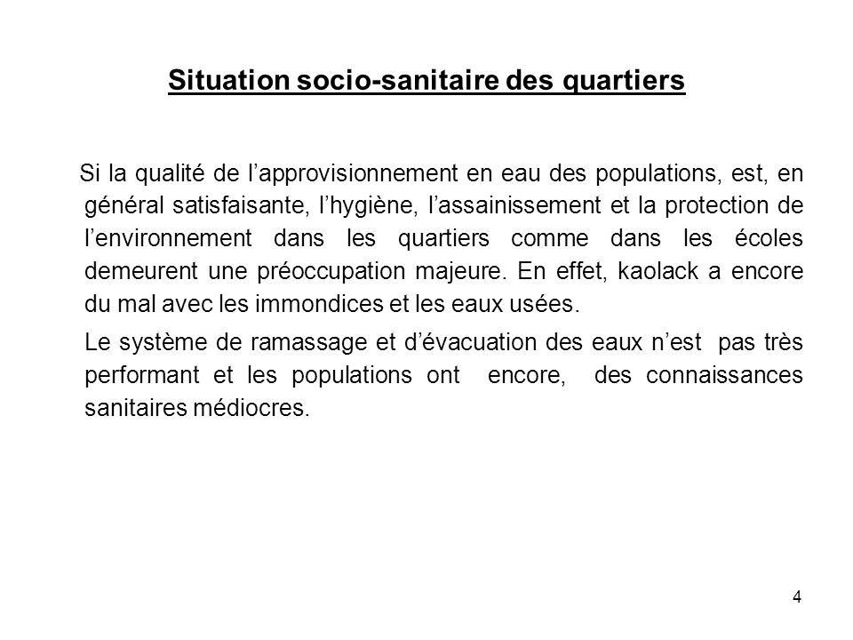 Situation socio-sanitaire des quartiers